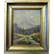 Signed Vintage Austrian/Hungarian Oil Painting on Panel