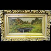Vintage American Oil Painting on Panel