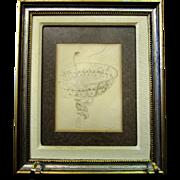 Vintage Hungarian Drawing, signed PAL