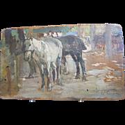 SOLD Vintage Italian Painting on Panel