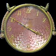Hanging Enamel Wall Clock, M. Glojoux - Genieve