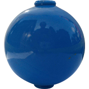 SOLD Lightning Rod Glass Globe (Blue Milk Glass)