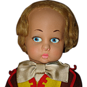 "19"" Flocked Face Lenci Male Doll 1950s-on Italy"