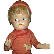 Vogue Toddles Ginny Composition Boy Doll Original 1943
