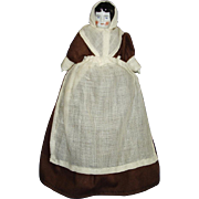Old Low Brow China Head Pilgrim Dollhouse Doll Germany