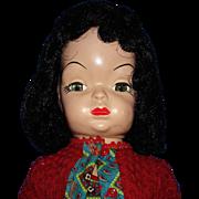 "16"" Mary Jane Hard Plastic Walker Doll GH&E Freydherg 1955"