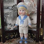 German all bisque boy in sailor suit