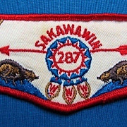 Boy Scout OA Order of the Arrow Lodge 287 Sakawawin Flap Patch 1960s