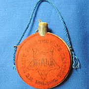 GAR Grand Army of the Republic Souvenir Tin Canteen From Encampment ca. 1880's