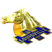 Kentucky Derby Horse Racing Lapel Stud 1901