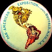 1901 Pan American Exposition Official Button Buffalo NY Advertising Pinback Button