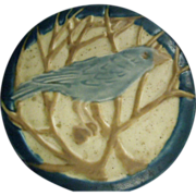 Rookwood Trivet / Tea Tile With Blue Bird