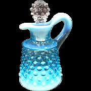 Fenton Blue Opalescent Cruet