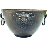 Tiffany & Co. Bronze Planter/Bowl With Tiger's head