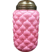 1894 Pink Lattice Cone Sugar Shaker