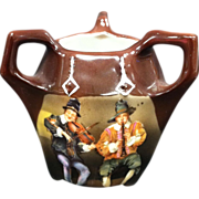 "Royal Bayreuth ""Peasant Musicians"" 3 Handled Toothpick Holder"