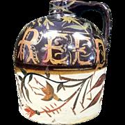 Anna Reed 1894 Stoneware Jug