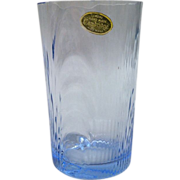 Cambridge Glass Caprice 10 oz Tumbler With Sticker In Moonlight Blue
