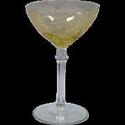 Sherbet Tall Champagne June By Fostoria #5098 In Topaz