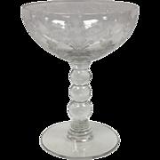 Elegant Glass First Love Sherbet/Champagne By Duncan Miller