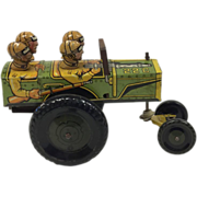 Vintage Tin Toy Marx Jumping Jeep