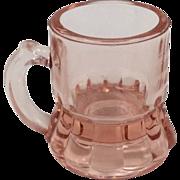 Depression Glass Pink Shot Glass Mini Beer Mug