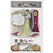 SOLD Vintage Embossed Halloween Postcard Signed Fred Lounsbury 1907
