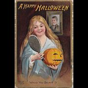 Vintage Halloween Postcard Signed By Ellen Clapsaddle Printed in Germany 1909