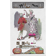 Vintage Halloween Postcard - A Jolly Halloween By Fred Lounsbury Not Posted