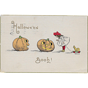 Vintage Halloween Postcard - Halloween Booh! By H. L. Woehler