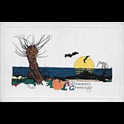 Vintage Halloween Postcard - Halloween Greetings By Gibson Art Company