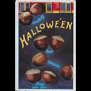 Vintage Halloween Postcard - Chestnuts - By Ellen Clapsaddle