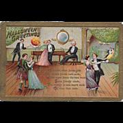Vintage Halloween Postcard - Hallowe'en Greetings 1914