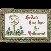 Vintage Halloween Postcard JOL Auld Lang Syne This Halloween