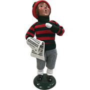 Christmas - Byers Choice The Carolers Traditional Child Figurine - Boy Holding Sheet Music