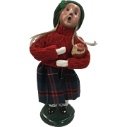 Christmas - Byers Choice The Carolers - Girl With Wooden Santa Toy