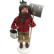 Christmas - Byers Choice The Carolers - Boy with Bucket of Coal & Shovel