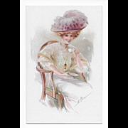 Vintage Postcard Signed M. Farini Circa 1907