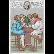 Vintage Patriotic Postcard Greetings To You On Washington's Birthday