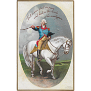 Vintage Patriotic Postcard George Washington On Horse