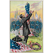 Vintage Tuck's Patriotic Political Postcard Lincoln's Address At Gettysburg