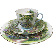 "Shelley Woodland Cup, Saucer and 8"" Plate"