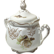 Old Ivory Empire Sugar Bowl With Lid