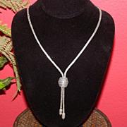 SALE Elegant Vintage STERLING SILVER Necklace