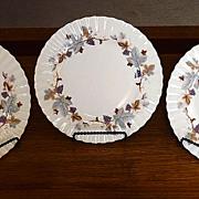 "Royal Albert Fine English Bone China Dinner Plates in ""Lorraine"" Pattern"