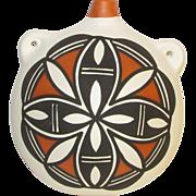 Vintage Pueblo Pottery Native American Acoma Canteen