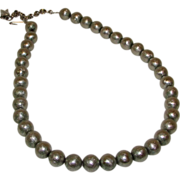 Vintage Whiting Davis Designer Silver Beaded Necklace