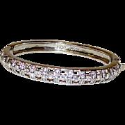 GIVENCHY Designer Runway Statement Bangle Bracelet with Swarovski Crystals