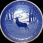 "ROYAL COPENHAGEN 1960 Christmas Plate ""The Stag"" Deer Design"