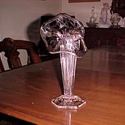 SOLD Art Nouveau Crystal Sterling Silver Orverlay Vase C. 1900 - Red Tag Sale Item
